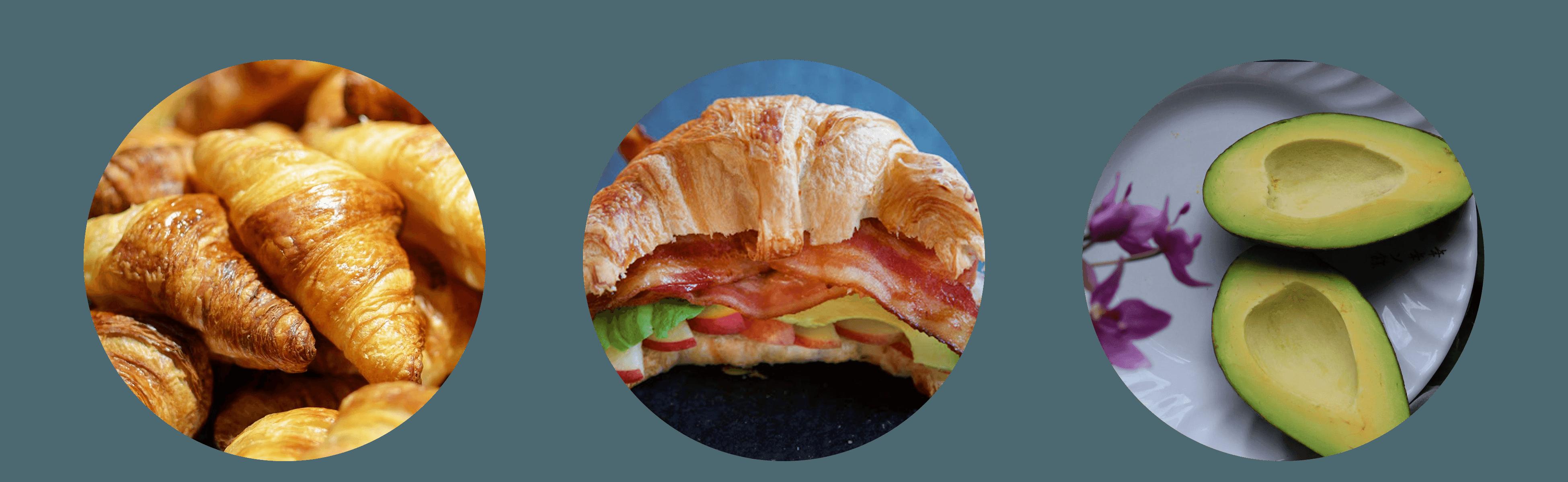 Avocado and Bacon Croissants